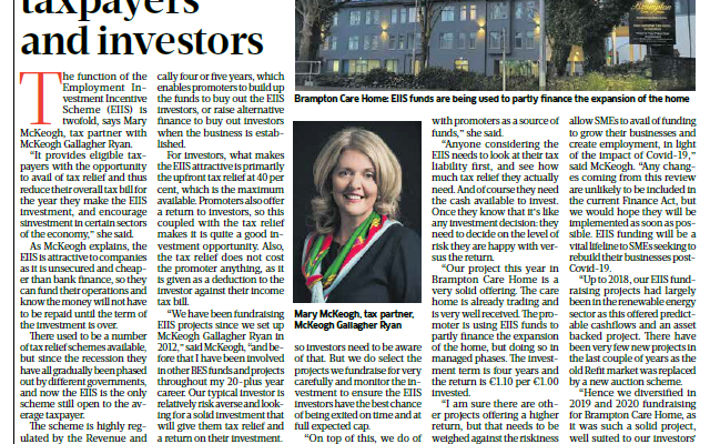 Mary McKeogh's interview in the Sunday Business Post 22 November 2020