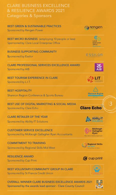 Ennis Chamber Awards Categories